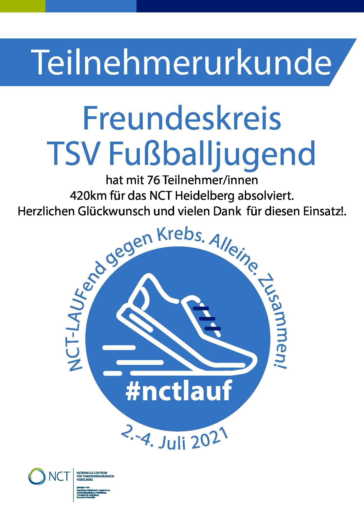NCT Spendenlauf, Kicken & Grillen
